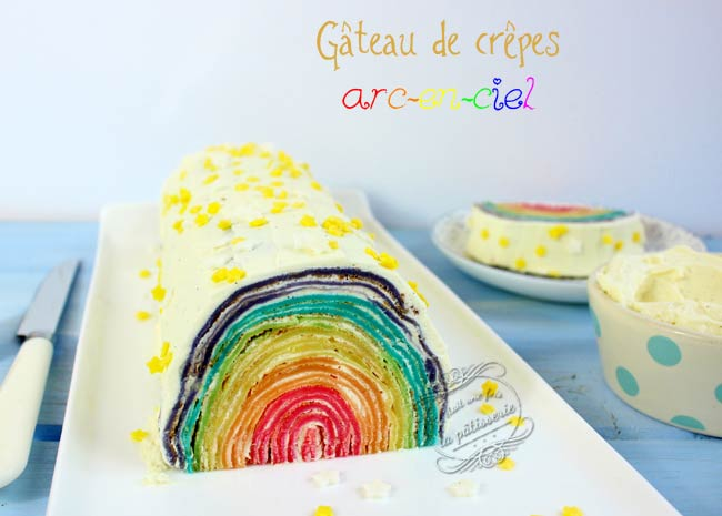 DIY gateau crepes facile arc en ciel tunnel