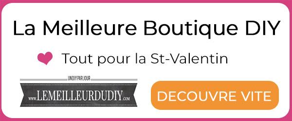 La meilleure boutique pour le DIY Saint Valentin