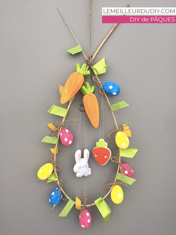 DIY Tutorial pour apprendre à fabriquer sa couronne de Pâques