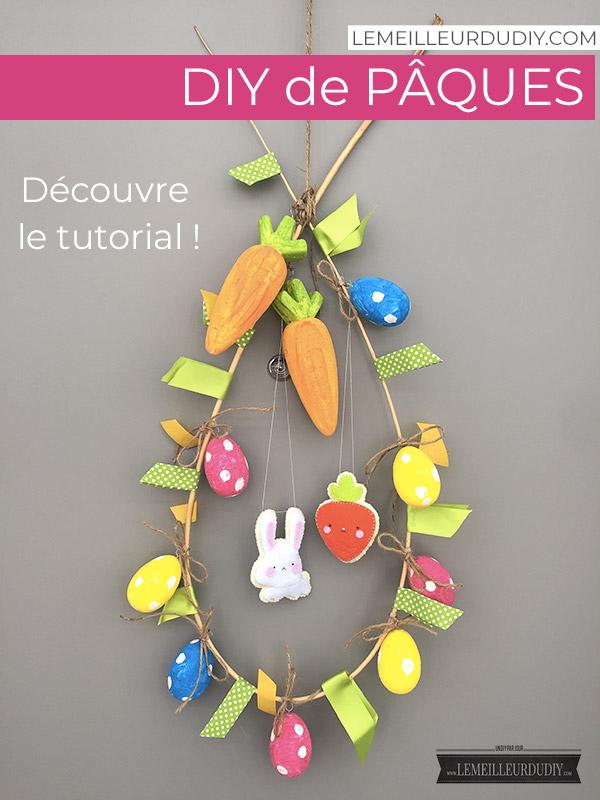 tutorial pour apprendre à fabriquer une couronne de Pâques