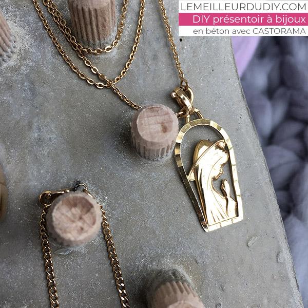 DIY Présentoir à bijoux en béton