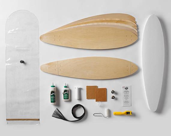 kit DIY fabrication de planche de longboard