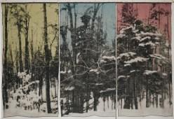 Tissage Jacquard, coton, laine et lin, teinture et pigment, Collection Musée des Maîtres et Artisans