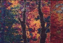 Tissage Jacquard, fils métalliques, laine mérino et fils à coudre, VENDUE, Ambassade du Canada à Londres.