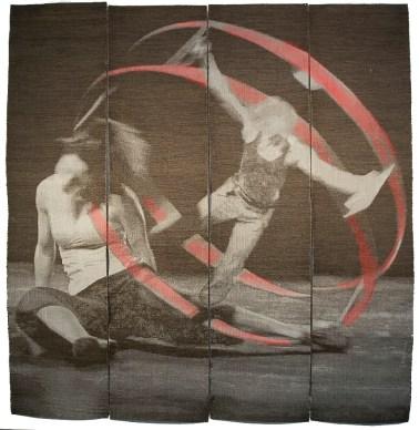 Tissage Jacquard, tencel, acier inox,cuivre, lin, laine, teinture, 7 000 $