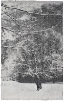 Tissage Jacquard, coton, sisal, collection privée