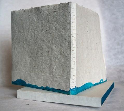 2014, livre d'artiste, 23x22x2,5 cm, poète Louise Morneau
