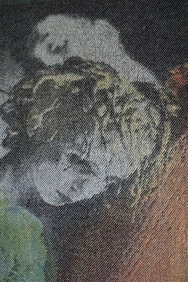Détail, d'après une chorégraphie d'Hélène Blackburn, 2016, 178x73 cm