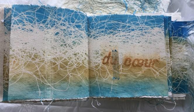 detail, 2016, livre d'artiste, poète Rabindranath Tagore, 28x28x4 cm