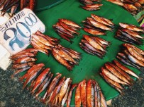 Dried fish on the street