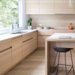 kabinet dapur natural coklat