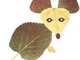 kerajinan daun kering lucu