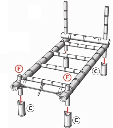 langkah 9 membuat ranjang dari bambu