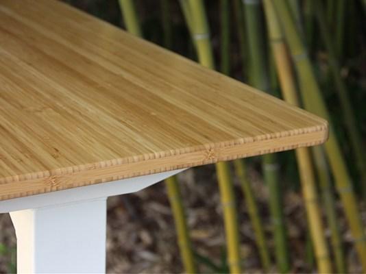 meja bambu laminasi