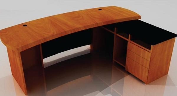 furniture kantor meja resepsionis