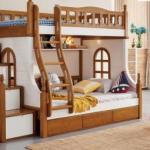 tempat anak tidur kayu