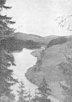 """Лемківська ріка Попрад коло Жеґестова Живця, на т. зв. """"Лопатї"""""""