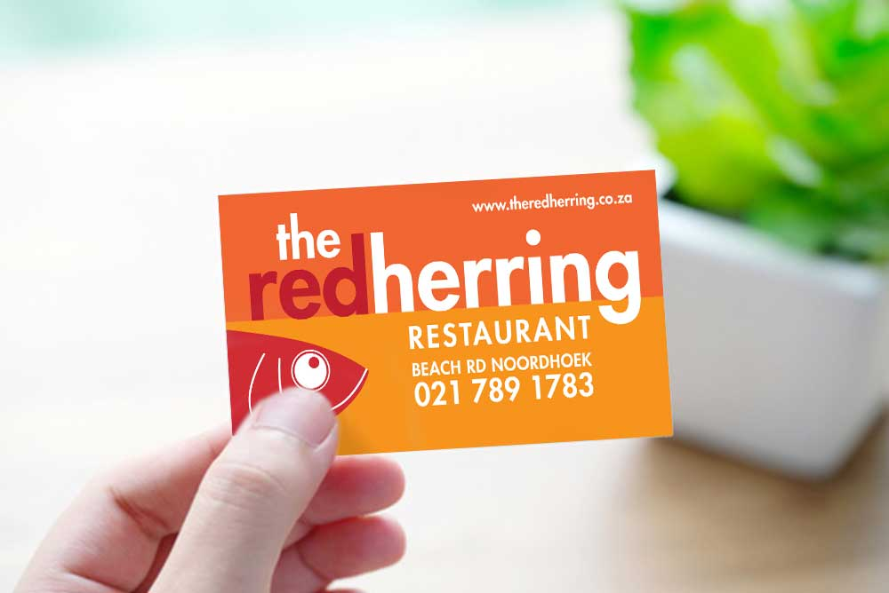 The Red Herring business card