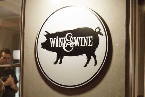 Wine & Swine branding