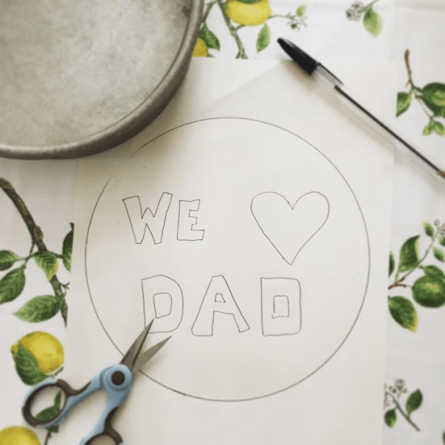 A little handmade touch never hurt a Father's Day cake.