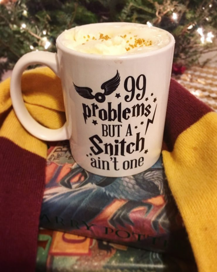 A mug of harry potter homemade butterbeer