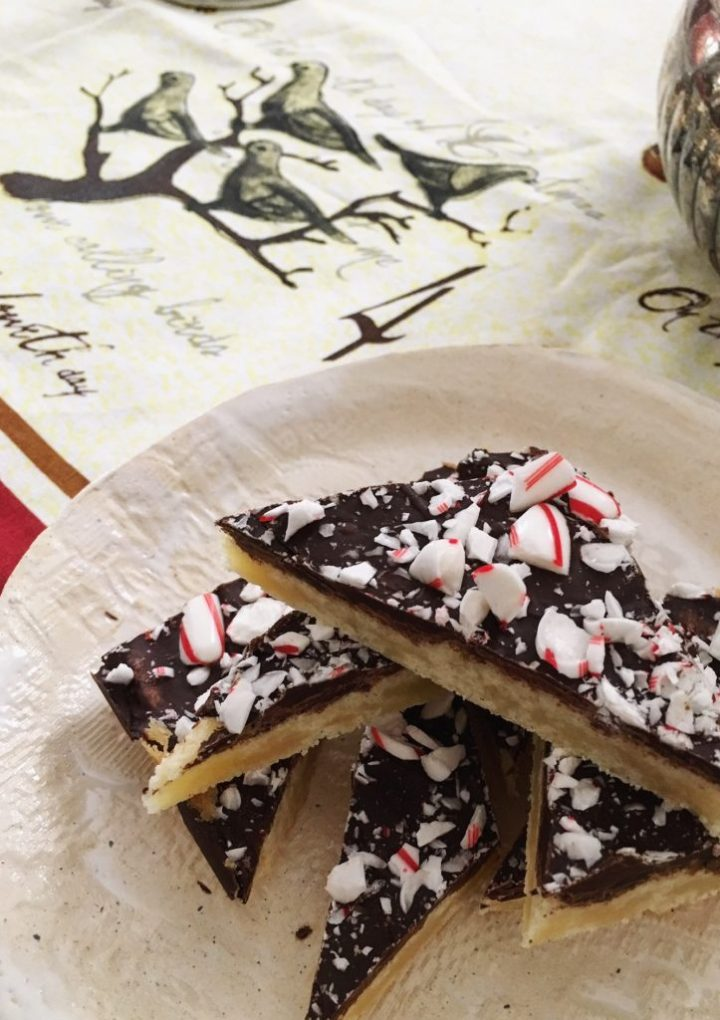 4th Day of Christmas: Dark Chocolate Peppermint Shortbread