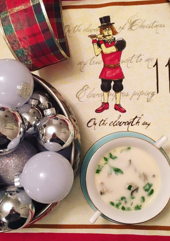 Oyster Stew for Christmas Eve Dinner