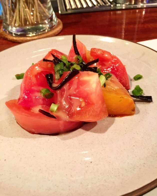 Heirloom tomato salad, Säisho, Mobile, Alabama