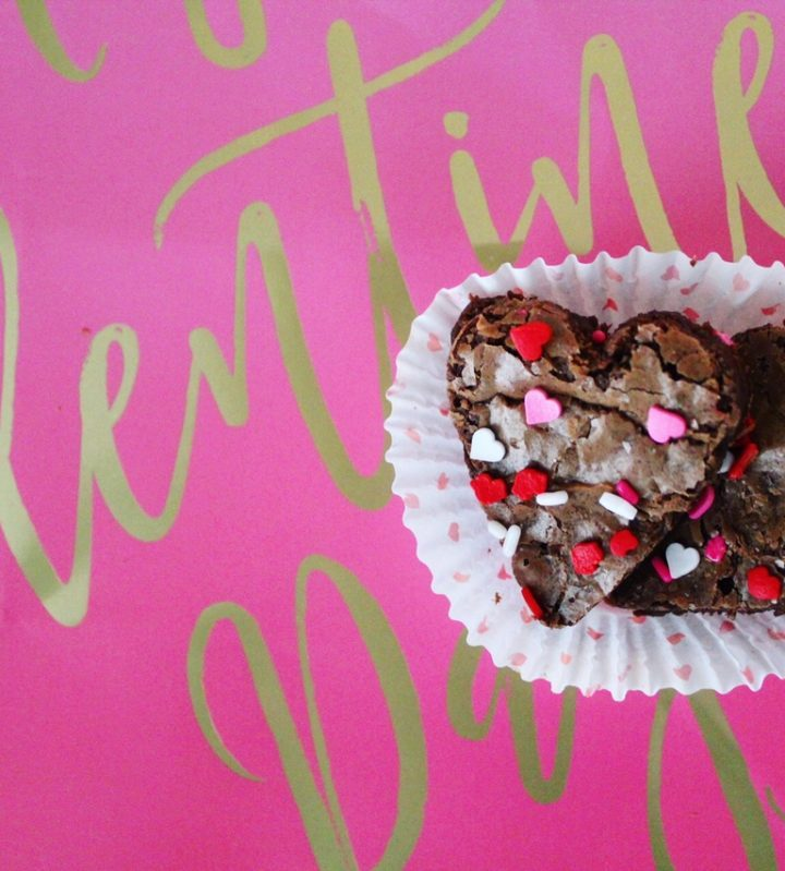 Easy Valentine's Day Heart Shaped Brownies