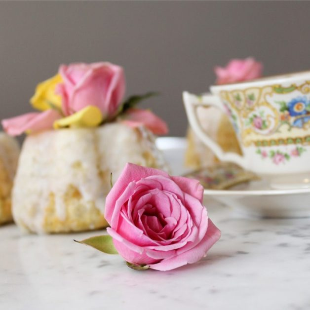 Earl Grey and Rose Teacakes