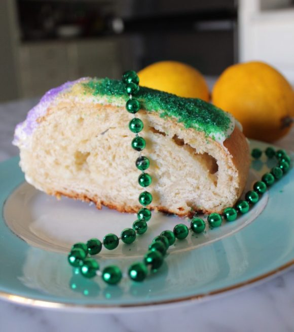 King Cake with Lemon Cream Cheese Filling