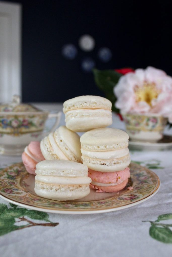 Vanilla French Macarons with Earl Grey Buttercream
