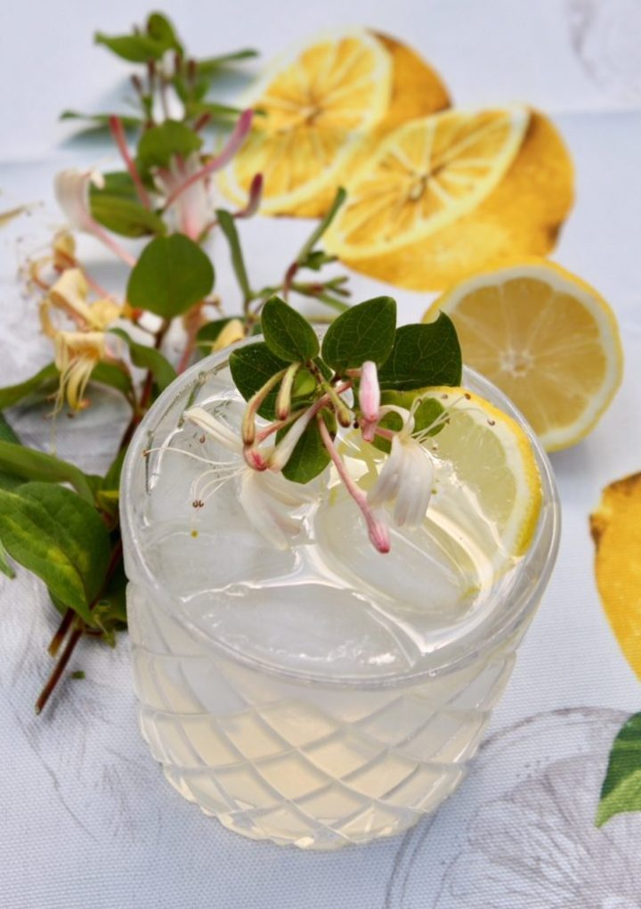 Lemon Honeysuckle Cocktail