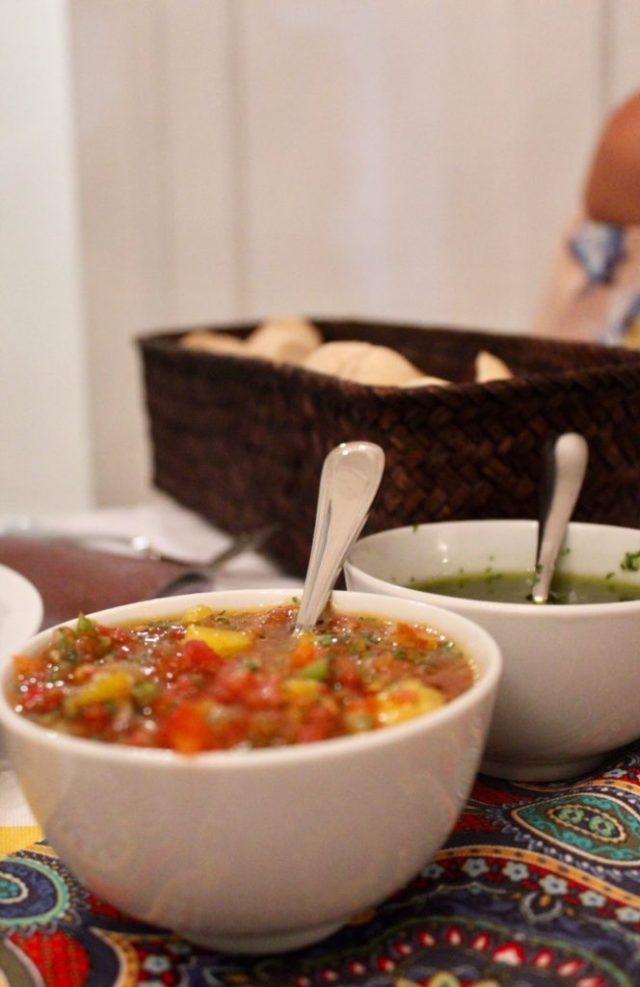 Fresh sauces for the empanadas