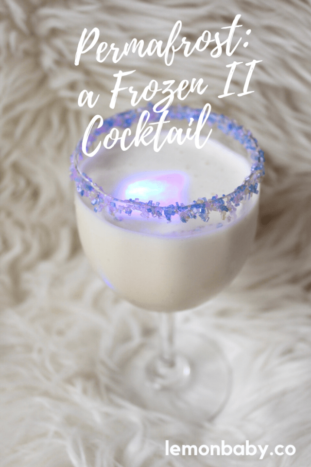 Pinterest Pin for Frozen II Cocktail