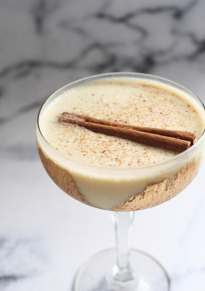 Brown Sugar, Cinnamon & Eggnog Christmas Cocktail
