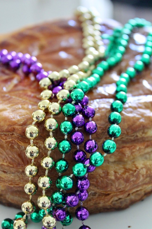 french king cake with beads