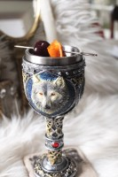 wolf chalice against a white fur background