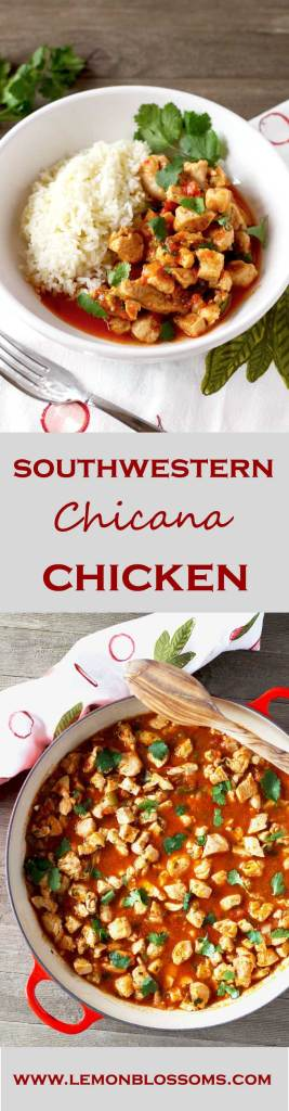 Easy, quick, light, and simple. This Southwestern Chicana Chicken only requires a few ingredients to deliver full flavor!