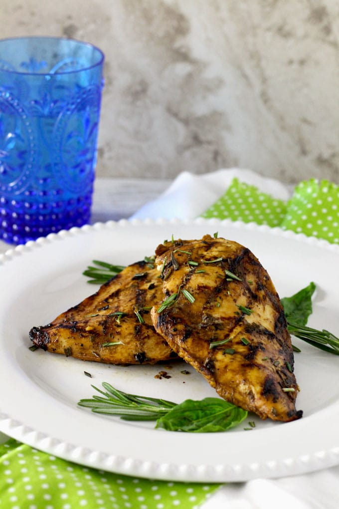 Grilled Chicken with the Best Balsamic Herb Marinade ...
