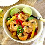 Shrimp Fajitas with Cilantro Lime Butter