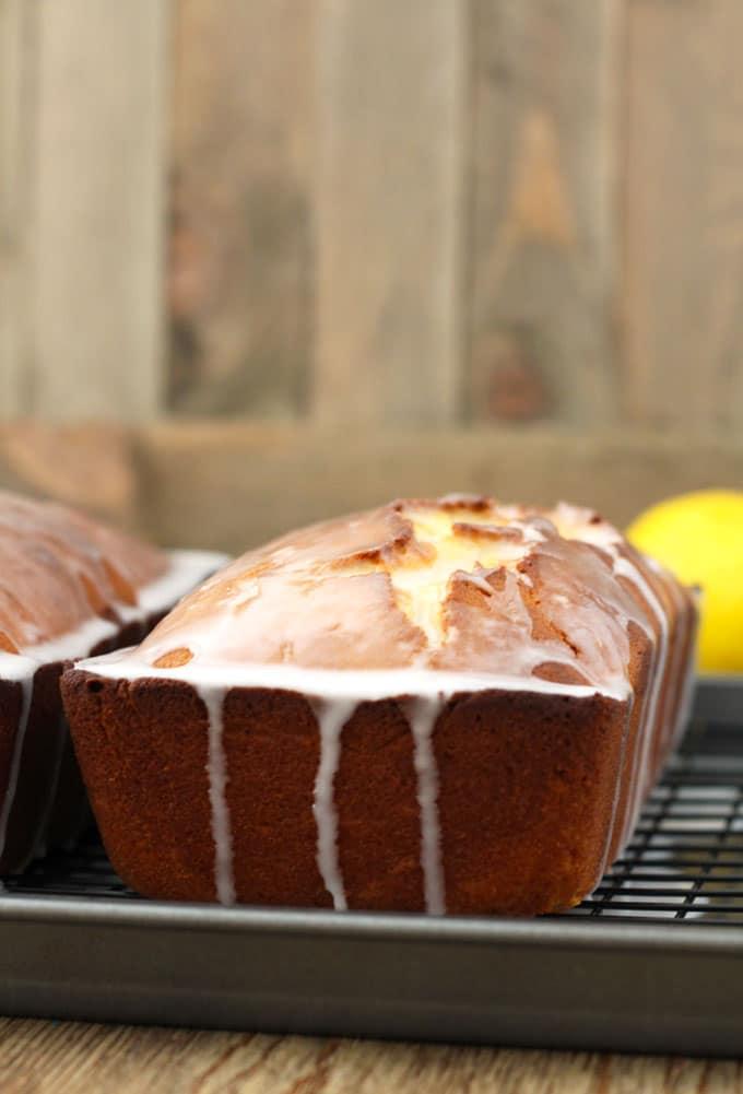 Lemon Loaf Cake With Lemon Glaze Lemon Blossoms