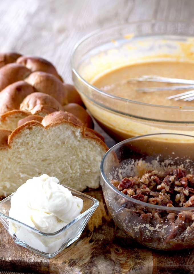 Cream Cheese Stuffed Pumpkin French Toast Bake | Lemon ...