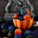 Sugared Prosecco Grapes – Halloween Edition