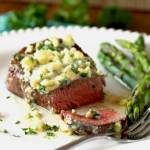 Pan Seared Filet Mignon with Blue Cheese Butter