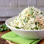 This Cilantro Lime Coleslaw is creamy, crunchy, fresh and light. This simple coleslaw recipe only takes a few minutes to make and delivers bright and delicious flavor! This creamy coleslaw is one you will want to make over and over again!