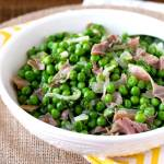 Sauteed Peas with Prosciutto and Shallots is an easy and quick side dish perfect any day of the week and fabulous enough to serve for holiday meals!