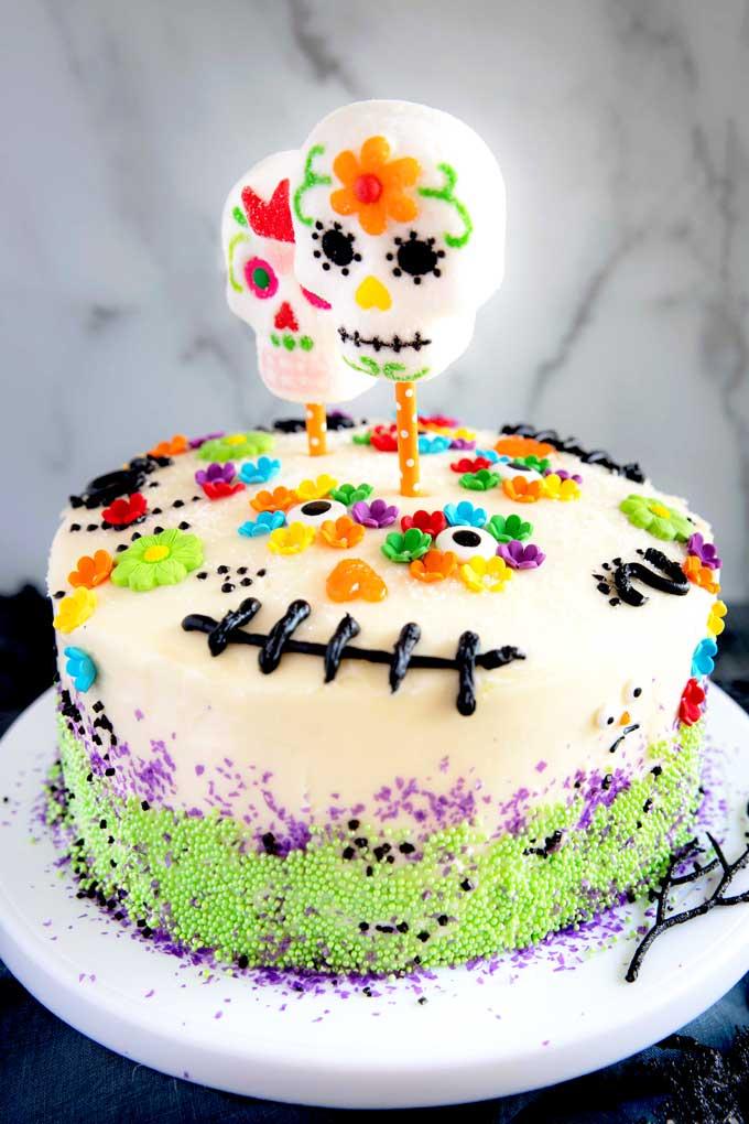 Pastel para el Día de Muertos
