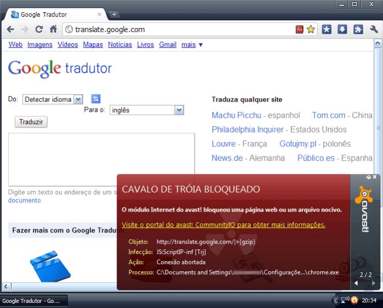 Cavalo de Troia no Google Translate