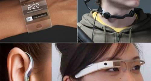 relógios, óculos e pulseiras inteligentes